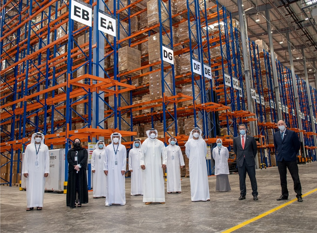 Abdulla Al Hamed visits Abu Dhabi Ports' COVID-19 vaccine storage warehouse